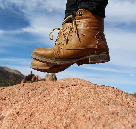 Feet, Boots, Jump, Adventure, Fashion, Hiking, Hipster